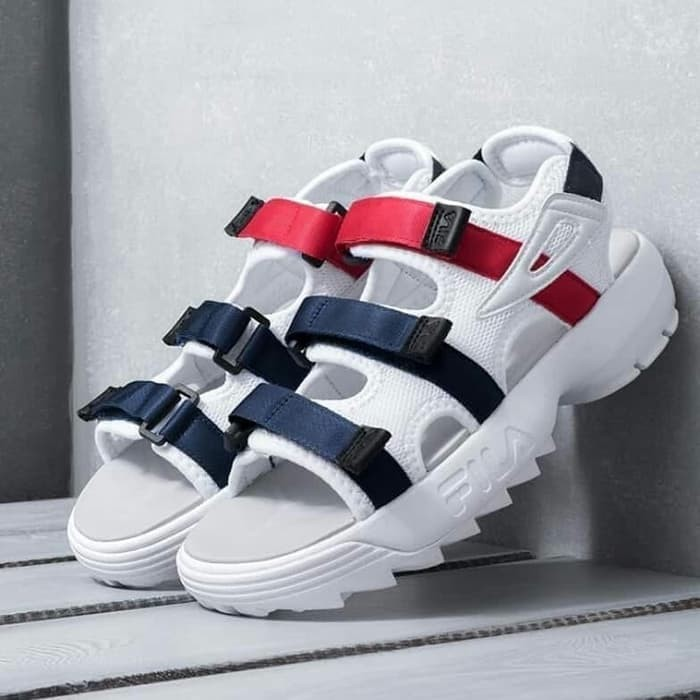 Sepatu Sandal Fila Disruptor Pria Wanita BNIB Original Fila Korea - Hitam fdd70bd971