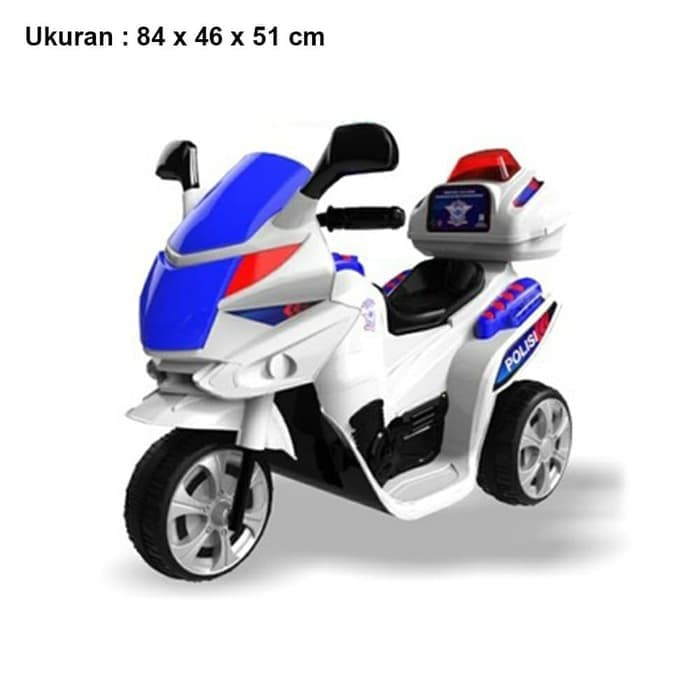 Foto Produk MAINAN ANAK MOTORAN CHARGE MOTOR AKI TORNADO POLICE POLISI YOYTA TOYS dari Mykidshop89