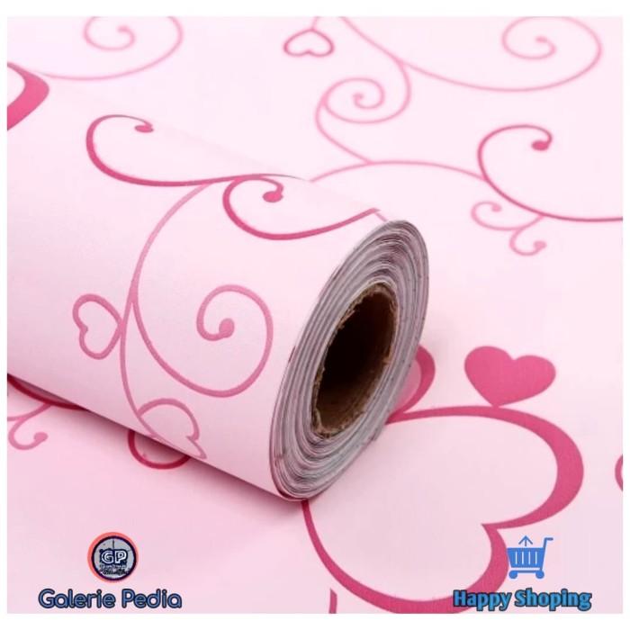 Jual Gp Wallpaper Dinding Pink Love Wallpaper Sticker Kota Bekasi Galerie Pedia Tokopedia