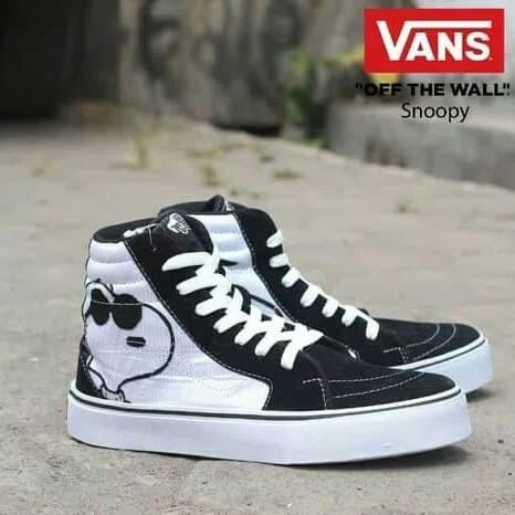 49ceac7f59 Jual Sepatu Casual Pria Vans Old Skool High Motif Snoopy - Fashion ...