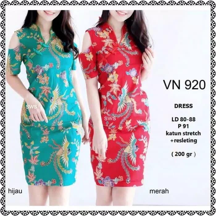 Review 920   928 Dress Pesta Batik Sabrina Midi Sepan Natal Wanita ... a4739c24d6