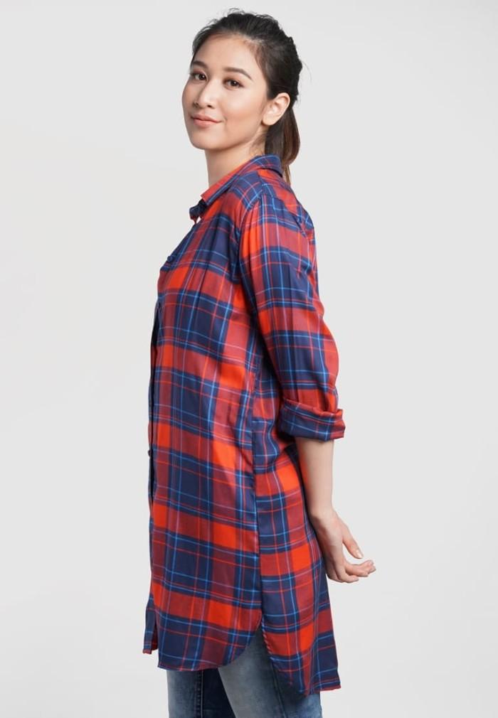 Jual Osella Baju Perempuan Kemeja Lengan Pendek Navy - Navy 32f25f75ed
