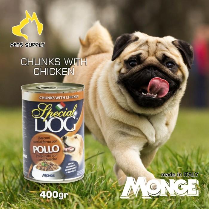Foto Produk makanan anjing kaleng/Monge Special Dog Chicken 400gr dari Pets Supply
