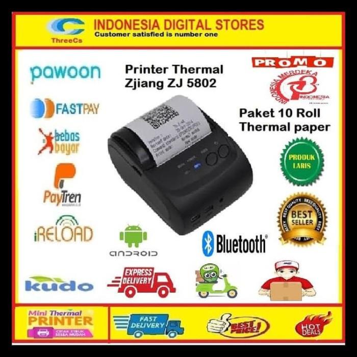 Jual Sale Printer Bluetooth Pos 58 Mm Zjiang 5802 10 Roll Thermal Paper Jakarta Pusat Nunikharipriyanti N Tokopedia