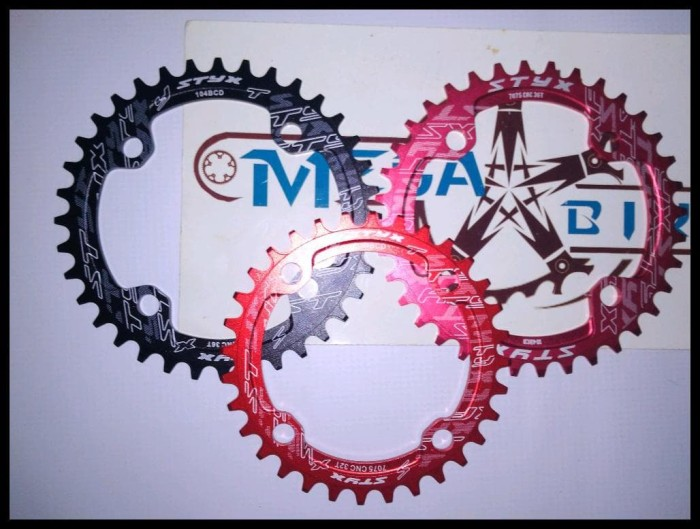 104BCD Moutian Bike Narrow Wide Round Speed Chain Ring 32T//34T//36T//38T Sweet