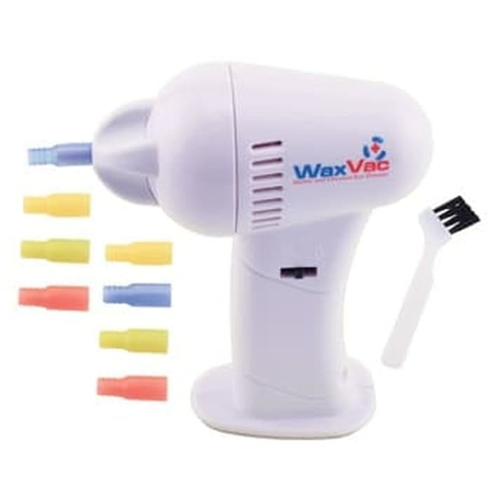 New Electric Ear Wax Vacuum Vac Wax Removal Pembersih Telinga - White
