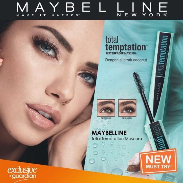 2abdb10c95a Jual MAYBELLINE Total Temptation Mascara Waterproof - Very Black ...