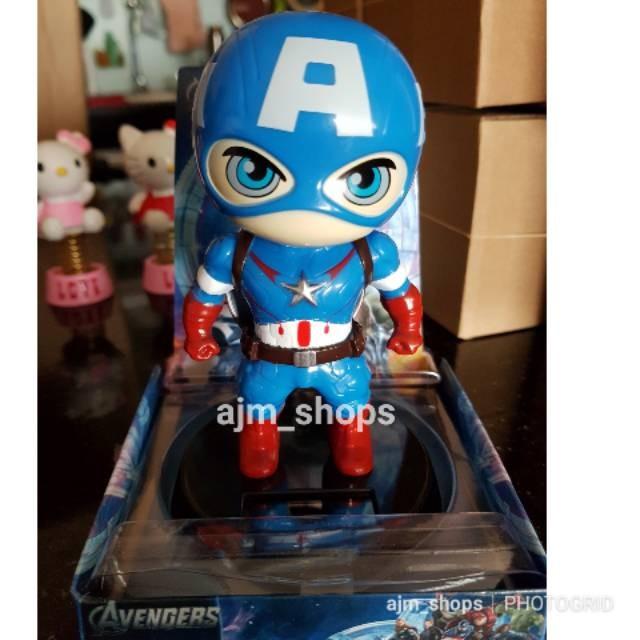 Jual Boneka Solar Hiasan Dashboard Mobil Captain America Jakarta Pusat Fast Shopnow Tokopedia