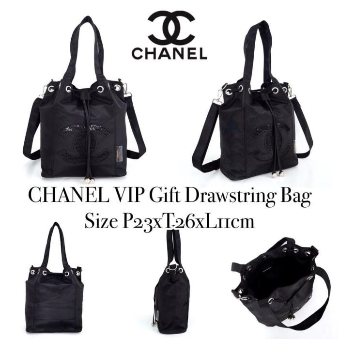ebcac9767f17 Jual Tas Chanel Grade ORI Mirror Import VIP Gift Drawstring Bag Kado ...
