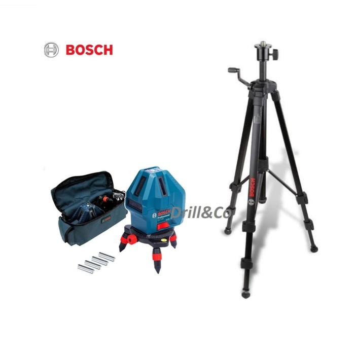 Foto Produk Bosch GLL 5-50 X Kit + Tripod Set Laser Garis / Line Level dari Bosch Official Store