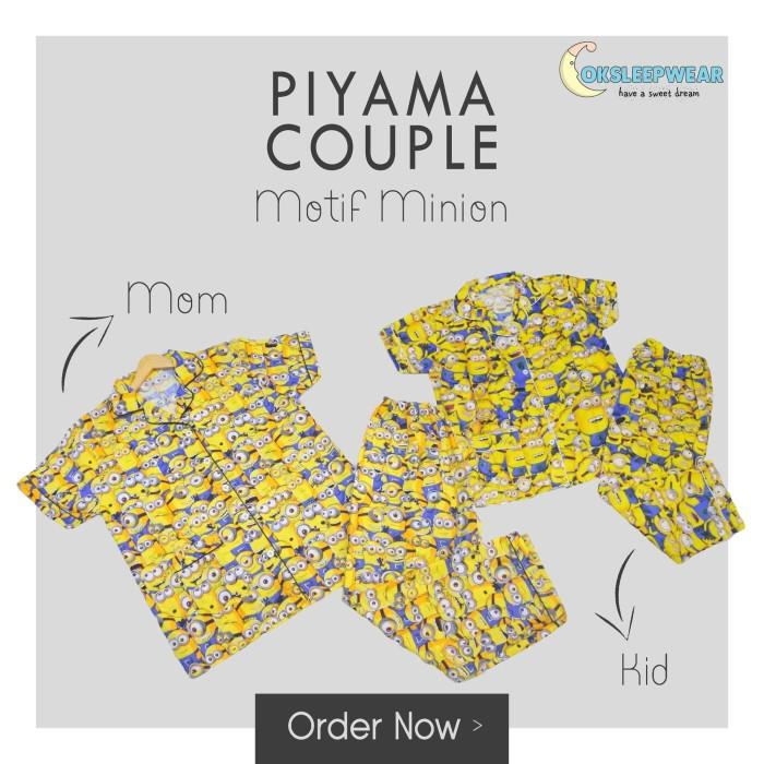 Baju Tidur Couple Piyama Kembar Motif Ibu Dan Anak Family Karakter