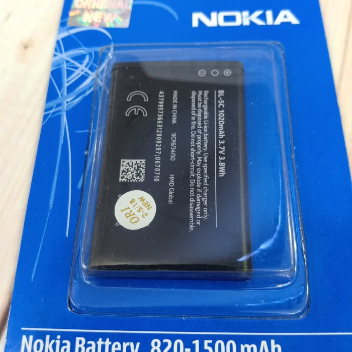 Jual Bat Baterai Nokia BL-5C Original New 100% Battery Hp Nokia BL5C - DKI  Jakarta - LIGA CELLULAR | Tokopedia