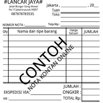 Jual Nota Kontan Dg Nama Toko Online Dki Jakarta Obajacell Tokopedia