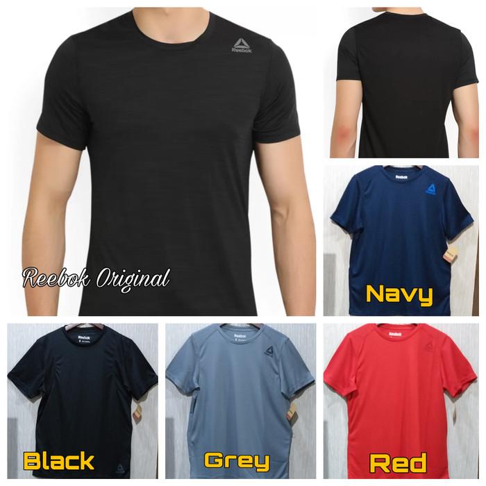 Update Harga Reebok Man Shirt Baju Olahraga Pria Gym Fitness Running ... 9960fd8993