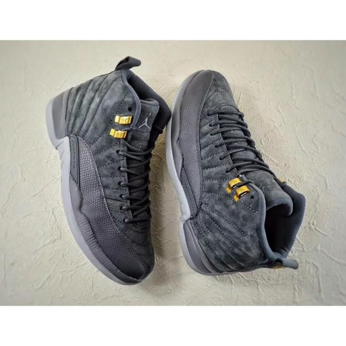 4c355bb7c17 Nike High Air Jordan 12 XII Dark Grey Suede Perfect Kick Original PK
