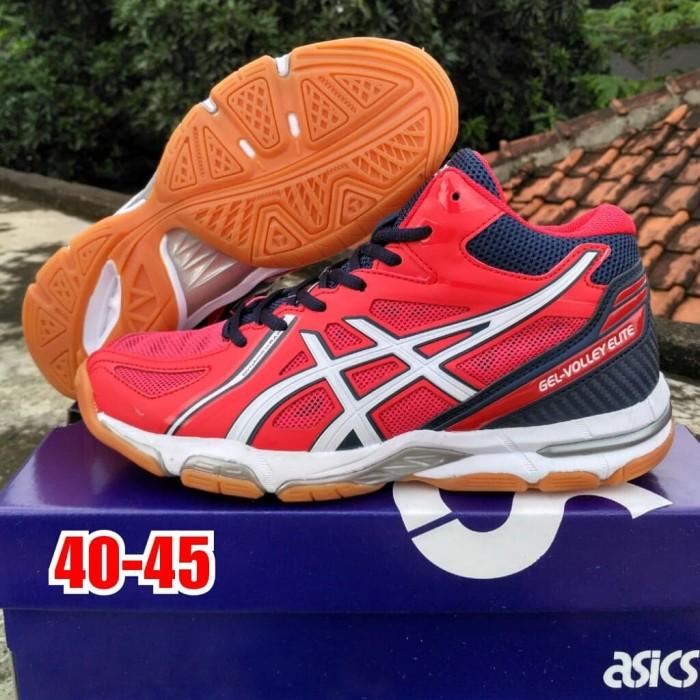 Jual Sepatu Volly Asics Gel Elite Merah Original Kab Tangerang