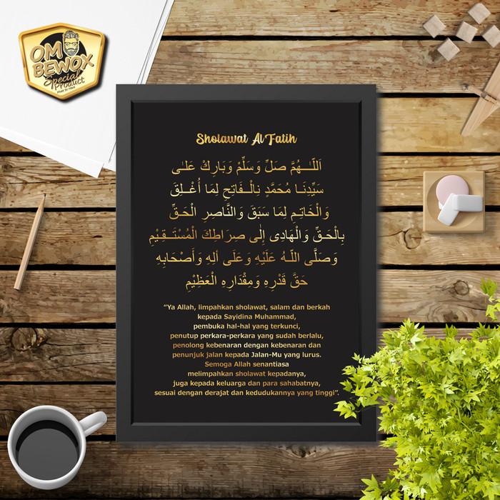 Foto Produk Kaligrafi hiasan dinding islami Sholawat Al Fatih dari Om Bewox