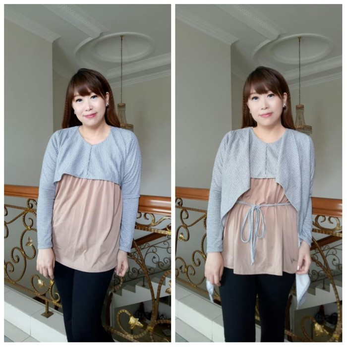 Atasan Wanita Korean Style Baju cewek Blouse Terbaru AR.97 - Biru Muda 97a6da8eff