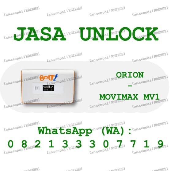 Jual jasa unlock modem mifi bolt orion movimax mv1 - Kota Yogyakarta - jasa  unlock bolt-huawei   Tokopedia