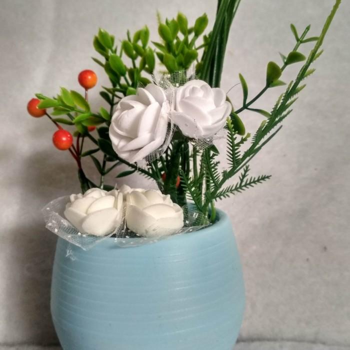 Jual Tanaman Hias Artifisial Pot Cantik Bunga Mawar Putih Kota Pontianak Juvenio Shop Tokopedia