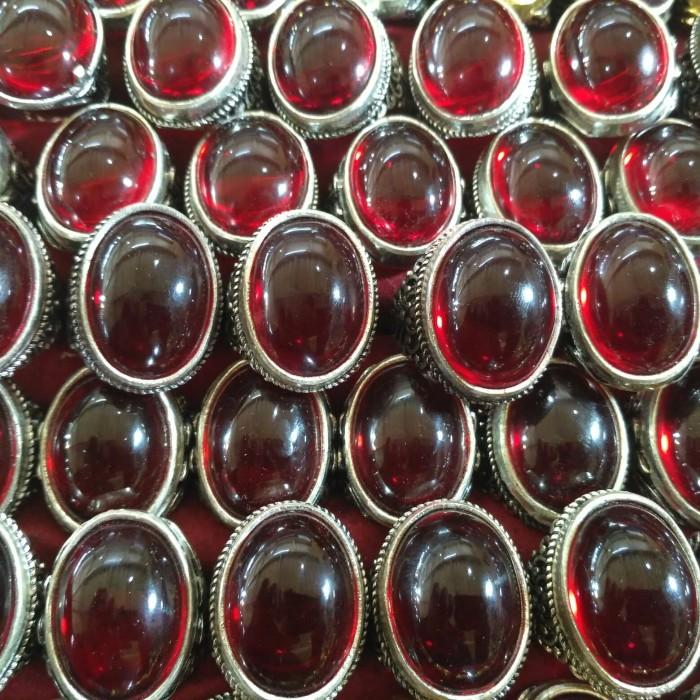 Foto Produk Cincin Batu Akik Merah Siam - Merah dari tyogems