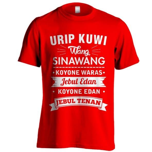 Jual Kaos Urip Kuwi Wang Sinawang Kaos Kata Kata Lucu Kaos Kata Bijak Jawa Merah M Kota Semarang Wf Cloth Tokopedia