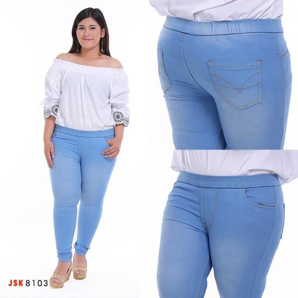 Jual Legging Jeans Big Size Jumbo Celana Panjang Jeans Wanita Ukuran Besar Biru Muda 39 42 Jakarta Utara The Watch Tokopedia