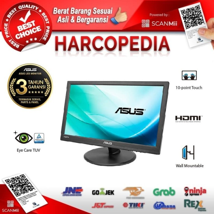 harga Monitor led asus vt168h 16  touchscreen 1366x768 hdmi vga Tokopedia.com