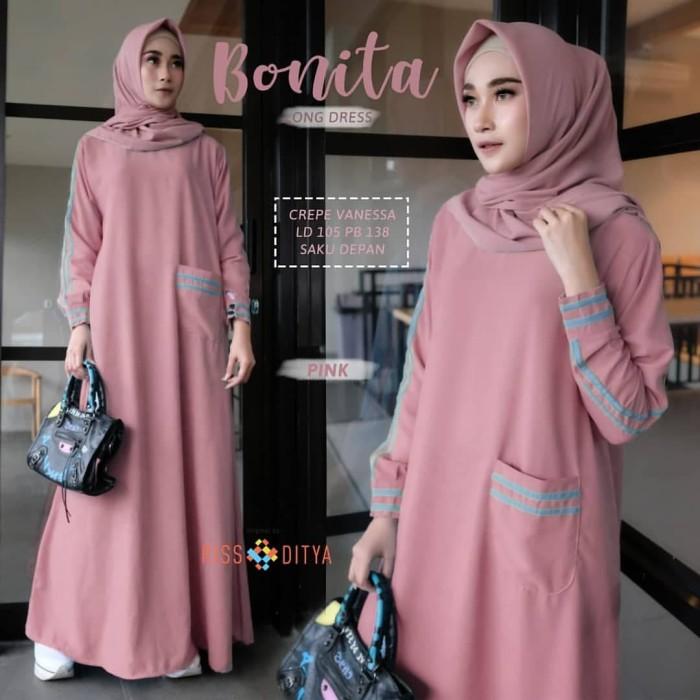 Jual Baju Muslim Bonita Long Dress Syari Baju Gamis Wanita Terbaru Gfm Kota Bandung Gudang Fashion Muslim Tokopedia