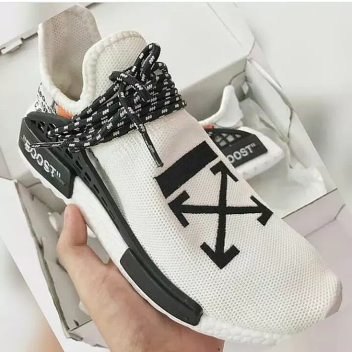 release date: f4e23 fe6b5 Jual Adidas NMD Human Race x Pharrell William x Off White - Kota Semarang -  Fayra Shoes | Tokopedia