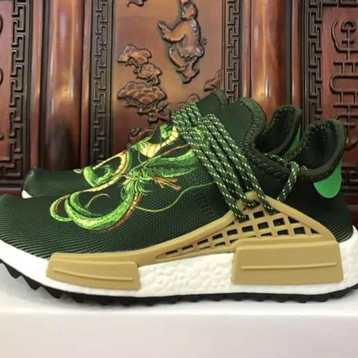 36fc10906155d Adidas NMD Human Race x Pharrell William x Dragon Ball Z Shenron Green