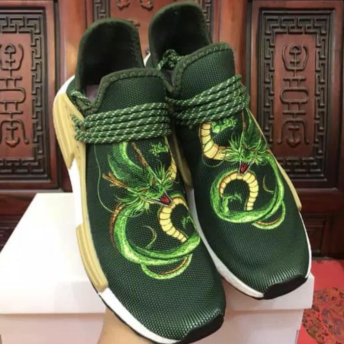 248b843f7 Adidas NMD Human Race x Pharrell William x Dragon Ball Z Shenron Green