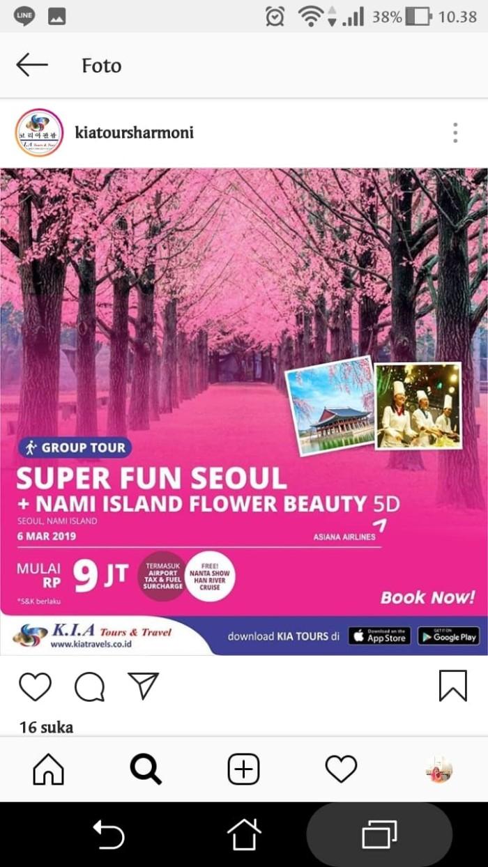 Jual SUPER FUN SEOUL NAMI ISLAND FLOWER BEAUTY Jakarta Pusat KIA Tours & Travel