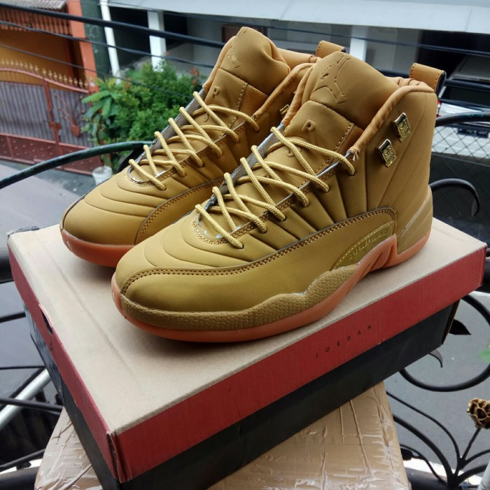 los angeles 0515d be3b4 Jual Nike High Air Jordan 12 XII Wheat Suede Brown Perfect Kick Original PK  - Jakarta Utara - Berkah Store 123 | Tokopedia