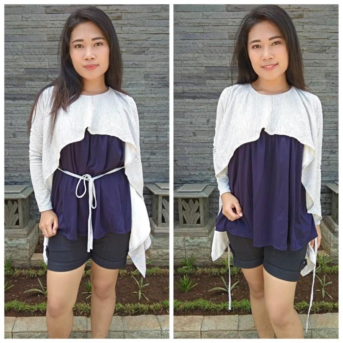 Atasan wanita korean style baju cewek terbaru blouse keren AR. 97 - Biru  Muda 02f77655c1
