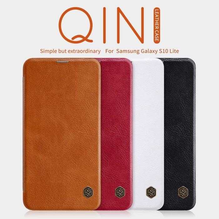 harga Case samsung galaxy s10 s10e lite s10+ plus - nillkin qin leather case - sxe brown