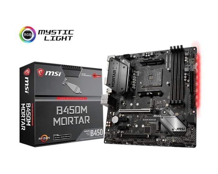 MSI B450M MORTAR AMD B450 AM4 DDR4 Micro ATX Motherboard