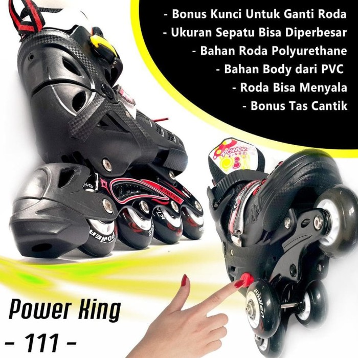 Sepatu Roda Power King 111 Pu Pink Ukuran L - diskon Produk Terkeren ... b7a409639e