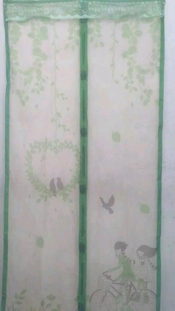 Jual Tirai Magnet Karakter Kartun Anti Nyamuk Serangga TERMURAH Jakarta Barat Slytherin