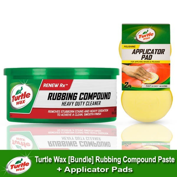 Turtle Wax Bundle Rubbing Compound Paste Applicator Pads