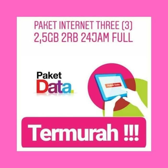 Jual Kartu Perdana Tri Paket Data 2 5 Gb 3000 Perhari Three Full 24 Jam Tan Kota Mataram Paket Internet 3 Murah Tokopedia