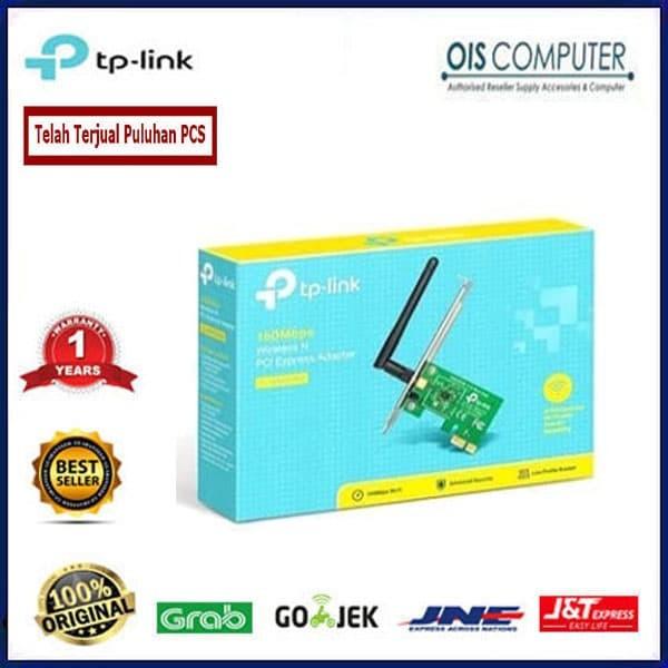 Jual TP-LINK TL-WN881ND 300Mbps Wireless N PCI Express Adapter - ORIGINAL  IT SHOP | Tokopedia