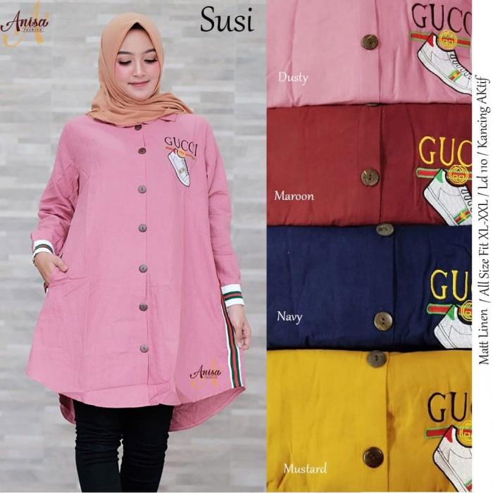 Jual Baju Wanita Blouse Tunik Susi Muslim Modern Modis Unik Lucu Kota Surakarta Vamaya Shop Tokopedia