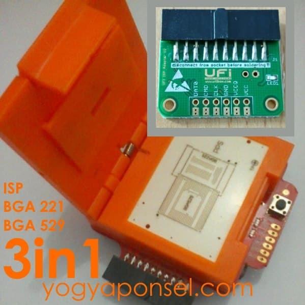 Foto Produk Soket UFI oranye BGA 221 BGA 529 dan ISP bisa untuk Syscobox dari yogyaponsel