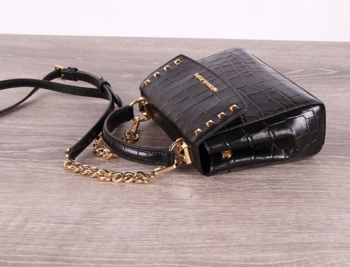 6790b8b724c6 Jual Michael Kors Karla Mini Convertible Black Leather Crossbody Bag ...