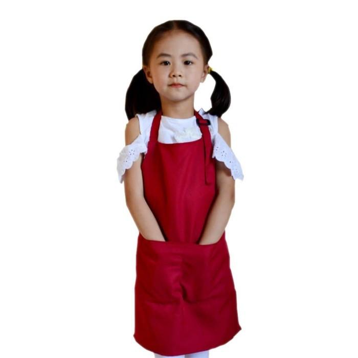 Foto Produk Celemek Apron Anak Bermain Gambar Makan Masak Melukis dari arunaskolshop