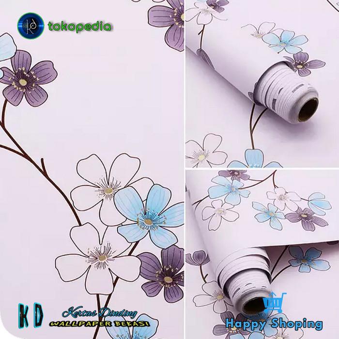 Jual Kd Walpaper Dinding Bunga Cantik Wallpaper Dinding Stiker