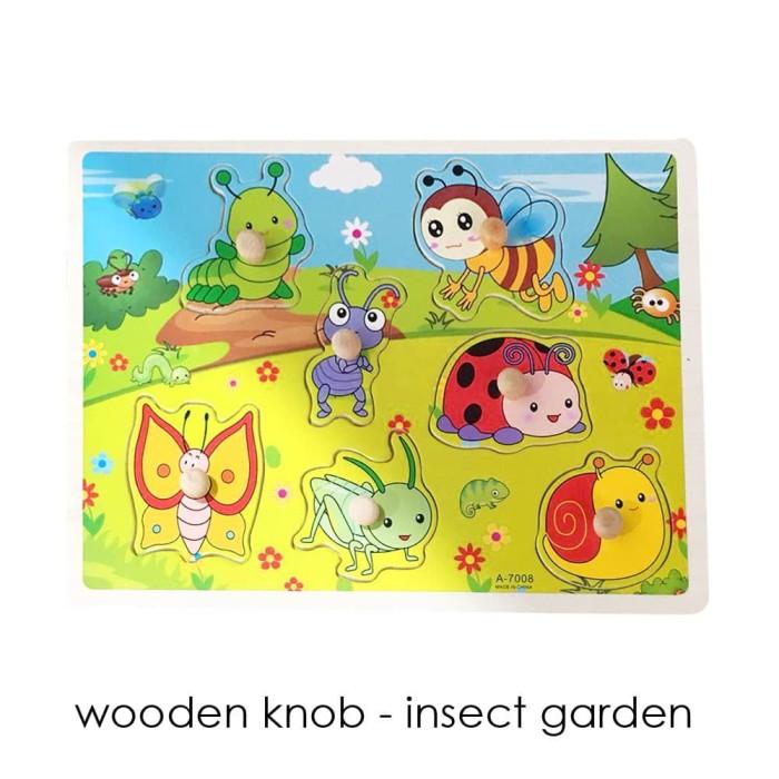 Edufuntoys - WOODEN KNOB / mainan puzzle knob murah/ puzzle bakground