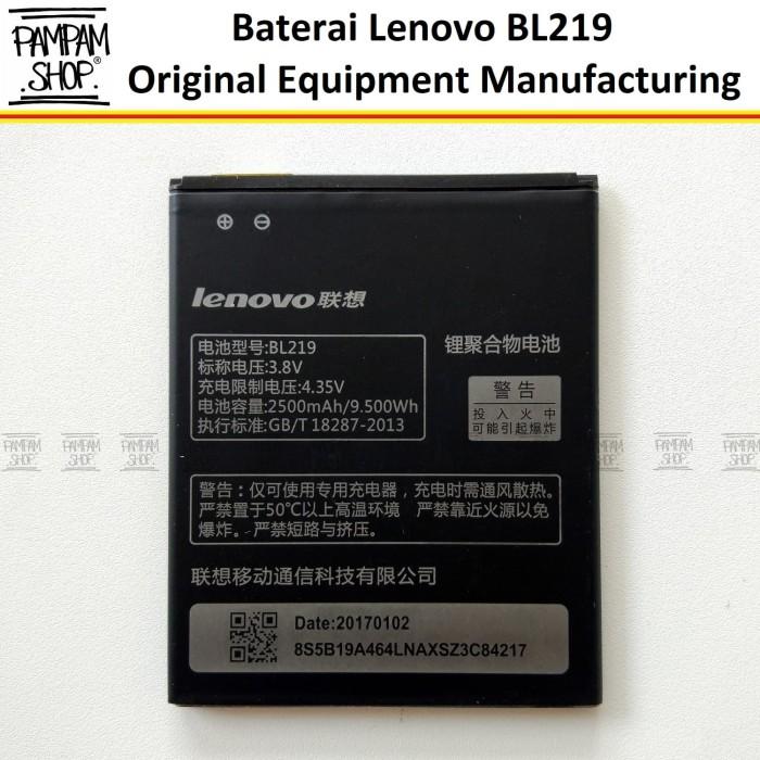 harga Baterai handphone lenovo a889 bl219 original   bl 219 batre a 889 hp Tokopedia.com