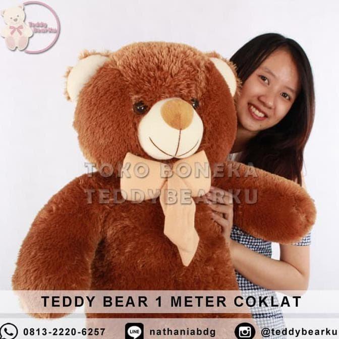 Teddy Bear Boneka Teddy Bear Beruang Jumbo 1 Meter Khas Bandung ... d6b0ec479c
